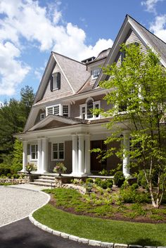 New Canaan Private Residence - traditional - exterior - new york - by Country Club Homes