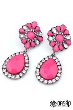 Earrings - The stud earring featuring rhinestones embellishment. Post back. Kids Jewelry, Jewelry Shop, Fashion Jewelry, Women Jewelry, Unique Jewelry, Women's Fashion, Jewellery, Statement Earrings, Women's Earrings