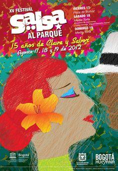 Afiche / XV Festival Salsa al Parque Concepto, diseño e ilustración. Diseño: Oscar Zambrano.  Bogotá, 2012.