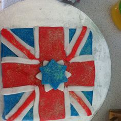 Union jack cake with a star
