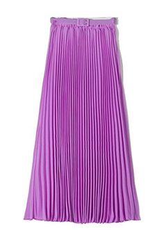 21d232d65f CBTLVSN Women's Casual High Waist Solid Color Chiffon Pleated A-Line Maxi  Long Skirt Long