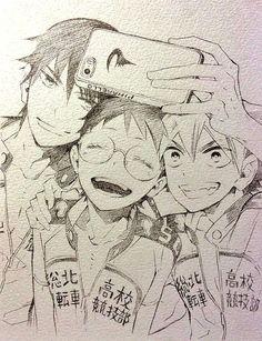 Yowamushi Pedal - Selfie xD