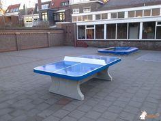 Pingpongtafel Afgerond Blauw bij Montessorischool in Bergen op Zoom