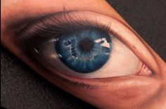 Realistic eye tattoo by John Anderton #InkedMagazine