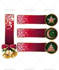 Realistic Graphic DOWNLOAD (.ai, .psd) :: http://vector-graphic.de/pinterest-itmid-1000774534i.html ... Christmas Banners Set 3 ...  background, banner, berry, bow, box, branches, celebration, christmas, design, gift, golden, graphic, green, holiday, holly, illustration, ornament, star, stylish, traditional, vector, winter  ... Realistic Photo Graphic Print Obejct Business Web Elements Illustration Design Templates ... DOWNLOAD :: http://vector-graphic.de/pinterest-itmid-1000774534i.html
