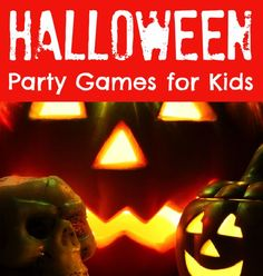 Halloween Party Games for Kids  {crafts idea family diy home decor activities halloween food theme halloween costumes house halloween crafts tutorial project}