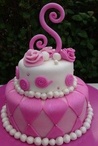 Fondant Birthday Cake Kellis Cakes on Facebook Pinterest Cake