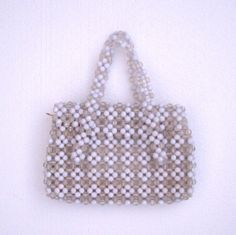 Vintage 60s Beaded Purse / White Purse / by BreesVintageRevivals, $36.00