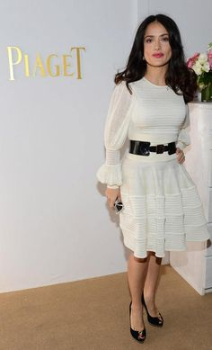 Actress Selma Hayek stopped by the Piaget lounge