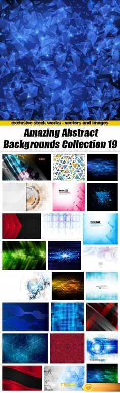 Amazing Abstract Backgrounds Collection 19 - 25xEPS http://www.desirefx.me/amazing-abstract-backgrounds-collection-19-25xeps/