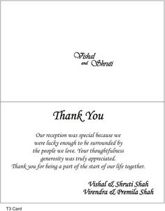 wedding thank you wording Google Search Wedding