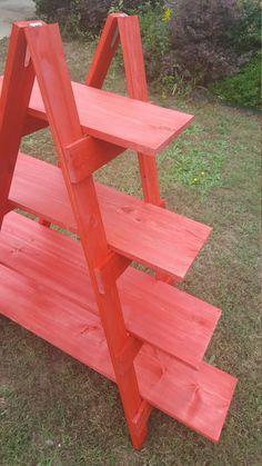 Wooden Ladder Craft Fair Display 5 foot Ladder by WoodLoveForYou