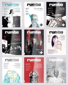 Rumba Magazine Redesign by Mikko Marjakangas, via Behance