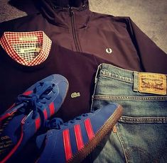 Football Casual Clothing, Football Casuals, Mod Fashion, Mens Fashion Suits, Casual Wear, Casual Outfits, Outfit Grid, Clothing Items, Designer Wear