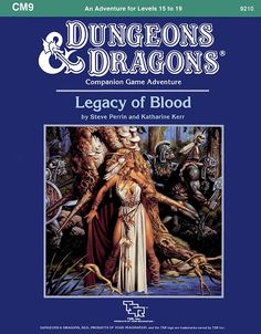 CM9 Legacy of Blood (Basic) | Book cover and interior art for Dungeons and Dragons Basic and Expert Editions - Dungeons & Dragons, D&D, DND, Basic, Expert, 1st Edition, 1st Ed., 1.0, 1E, OSRIC, OSR, Roleplaying Game, Role Playing Game, RPG, Wizards of the Coast, WotC, TSR Inc. | Create your own roleplaying game books w/ RPG Bard: www.rpgbard.com | Not Trusty Sword art: click artwork for source