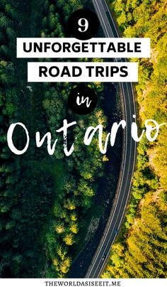 Looking for a great road trip this summer? Here are 9 unforgettable Ontario road trips that will help you discover the best this province has to offer. My Road Trip, Road Trip Hacks, Road Trip Canada, Ontario Getaways, Canadian Travel, Canadian Rockies, Voyage Canada, Ontario Parks, Ontario Travel