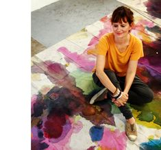 Lara Merrett in her Sydney studio