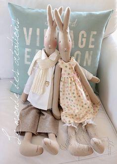 Le monde des créations - Tilda Rabbits to make, love