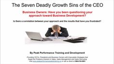 Sales Training Spotlight:  The Seven Deadly Growth Sins of the CEO