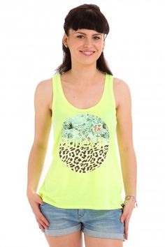 Hurley Flammo Perfect Tank-Top women (hot yellow) #skatedeluxe #sk8dlx #hurley