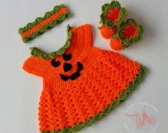 Bebé Crochet patrones patrón vestido bebé por CutenCuddlyOutfits