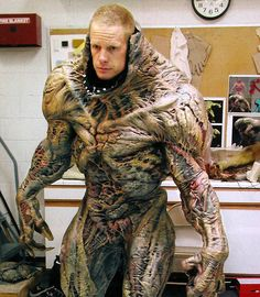 Brian Steele (aka CreatureBoy) in a test fitting for his role as Hell Knight/Baron of Hell in DOOM. #vfx