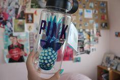 vs pink victoria's secret water bottle sport pineapple