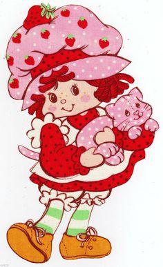 Strawberry shortcake & custard cat custom heat transfer iron on Strawberry Shortcake Ice Cream, Strawberry Shortcake Cheesecake, Strawberry Shortcake Characters, Whipped Cream Cheese Frosting, Cartoon Tattoos, Vintage Cartoon, Angel Food Cake, Heat Transfer, Garden