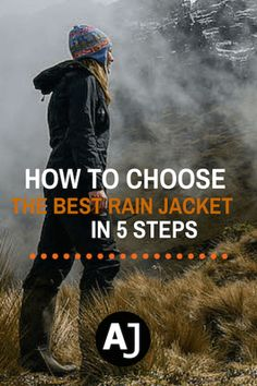 5 Easy-To-Follo Steps To Help You Choose The Best Rain Jacket For Your Needs, wether it's for hiking, bicycle touring or to spend a day in nature.