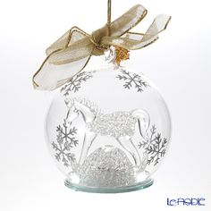 Lenox ornament glass bowl Baby First Christmas 2014 846 902 with LED Light