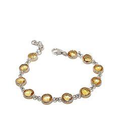 Colleen Lopez Gemstone Bezel Line Bracelet