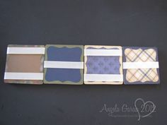 Jacob's Ladder Binding : Well illustrated tutorial for this amazing ribbon binding.  Written for paper crafters, the same technique can be used for panels of needlework mounted on chipboard. Excellent! (NCS) [from Angela's Craft Closet]
