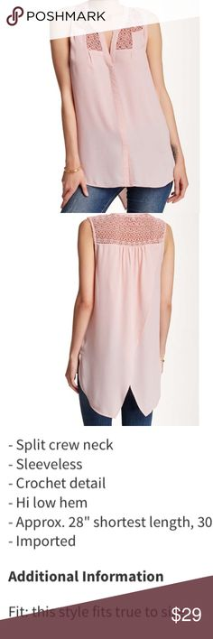 Daniel Rainn split back yoked blouse Pale pink which goes nicely with jeans, gray, black and actually almost any neutral. Stretch your wardrobe by layering under a long sweater. Very cute detailing on the back. Available. Negotiable Daniel Rainn Tops
