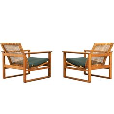 "Pair of ""Frederica"" Easy Chairs by Borge Mogensen 