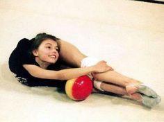 Young Alina Kabaeva (Russia)...