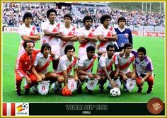 Peru team group at the 1982 World Cup Finals.