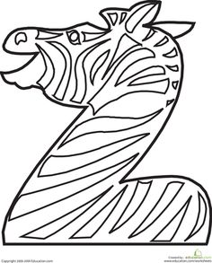 Color the Zebra Letter Z