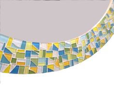 Round Mosaic Mirror  Colorful Wall Decor  by GreenStreetMosaics