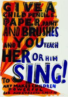 Bob and Roberta Smith, Sing, 2013, lithograph, 710 x 500 mm