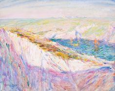 The Athenaeum - Chalk Cliffs at Goulphar Bay (John Peter Russell - )