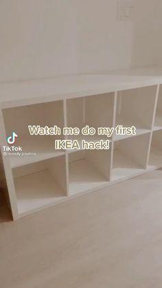 Diy Furniture Renovation, Ikea Furniture Hacks, Diy Furniture Projects, Ikea Hacks, Furniture Makeover, Home Projects, Bedroom Crafts, Diy Crafts For Home Decor, Kallax