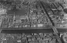 Dublin from the air, 1933, Capel Street and Parliament St to the right.