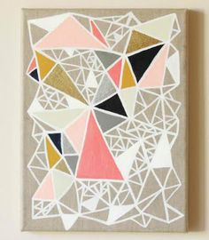Geometric art- use the white lines instead of black on the brown or tan background
