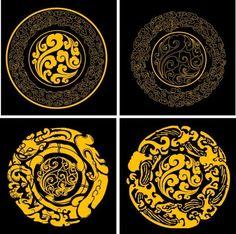 设计素材:古典花纹 圆形