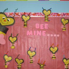 Valentines day bee craft bee mine