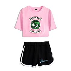 Riverdale 2 Piece Tracksuit Women Southside Serpents Clothes Casual Crop Top and Pants Summer . Sport Outfits, Girl Outfits, Casual Outfits, Cute Outfits, Fashion Outfits, Riverdale Shirts, Outfits For Teens, Summer Outfits, Riverdale Fashion