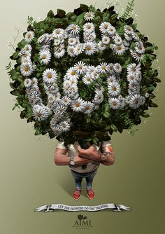 AIMI Flowers: Let the flowers do the talking - I miss you. | #ads #adv #marketing #creative #publicité #print #poster #advertising #campaign < repinned by www.BlickeDeeler.de | Have a look on www.Printwerbung-Hamburg.de