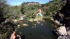"""Malibu Creek, California """"You cannot create experience, you must undergo it."""" Don't live life vicariously of others, experience it for yourself! Cliff Diving, Rock Pools, Summer Bucket Lists, Take Risks, Southern California, Live Life, Golf Courses, Outdoors, In This Moment"""