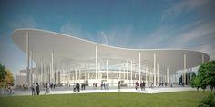 ruch chorzow stadium by andrea maffei architects in chorzow, poland