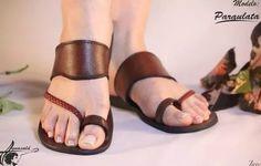 sandalias de cuero artesanal